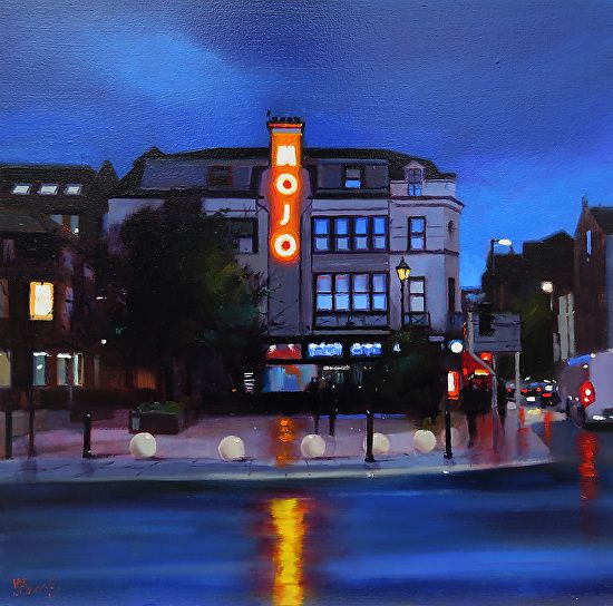 "Found My Mojo, Manchester by Michael John Ashcroft Oil ~ 12"" x 12"""