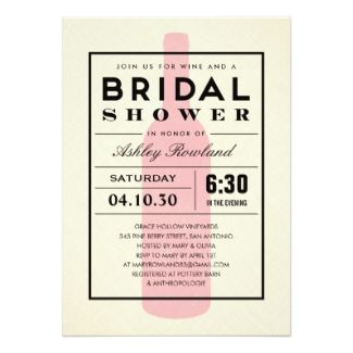 Wine Themed Bridal Shower Invitations Bridal Shower Invitations