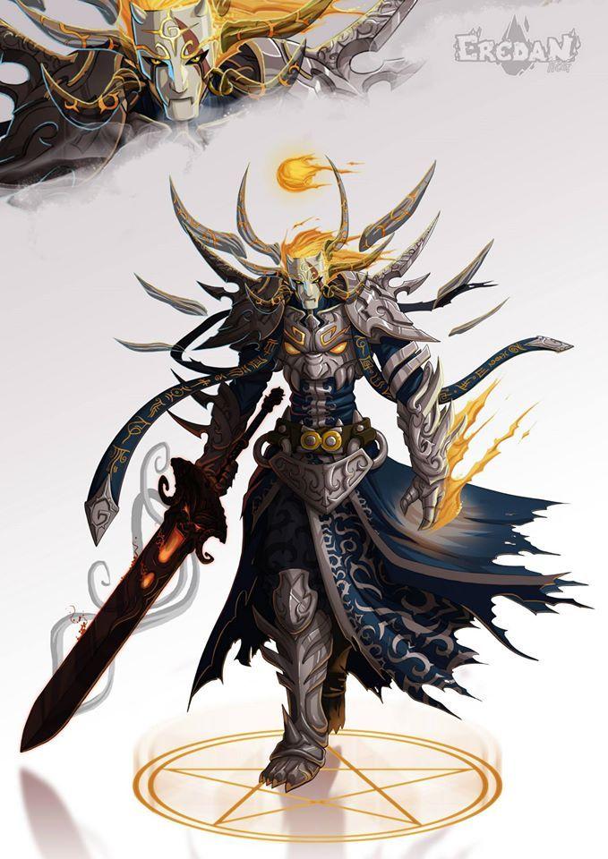 eredan by Cian Dark fantasy art, Character art, Demon art