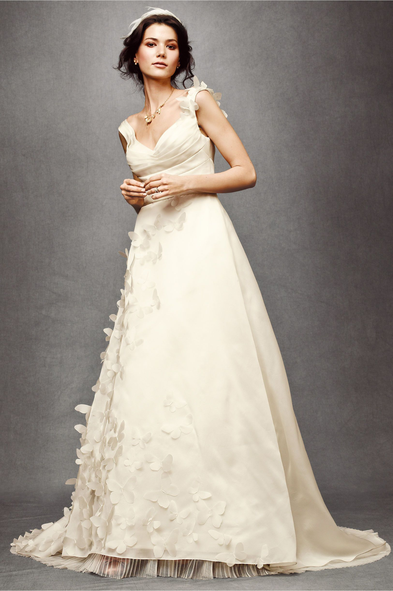 Absolutely ADORE this dress...butterflies?!  I'm so so so in love.  Can I please have a bride who wears this?! PLEASE?!?!