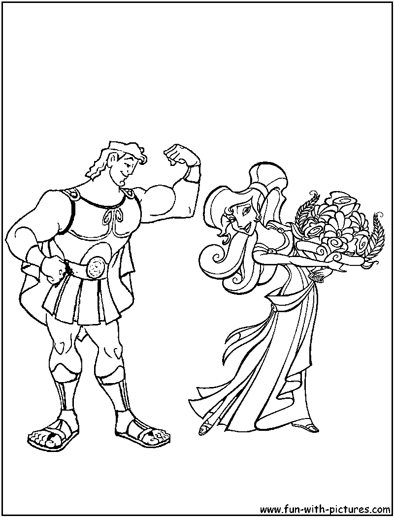 Hercules coloring pages on disney coloring pages dover publicatio ...