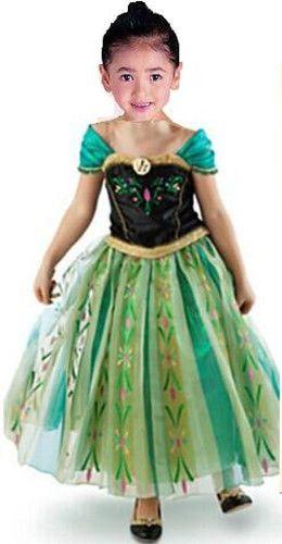 Robe deguisement costume la reine des neiges frozen elsa anna enfant fille girls copias - Robe anna reine des neiges ...