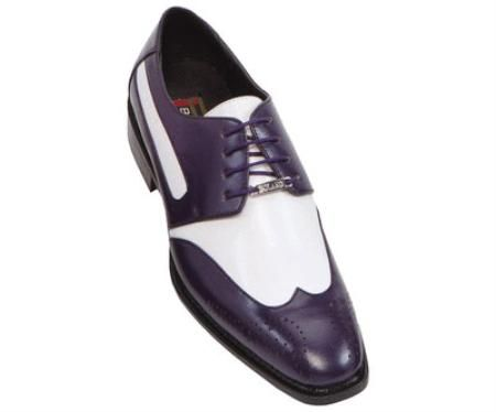 4a1c9090a62d9 Classic Comfortable Latest In Fashion Purple / White Mens Two Tone Dress  Shoe $125 classic comfortable latest in fashion TWO TONE Purple/White Mens  Wingtip ...