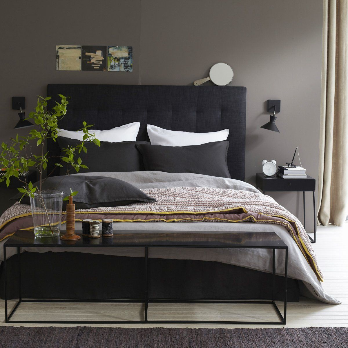 banc bout de lit m tal romy lit metal bout de lit et t te de lit capitonn e. Black Bedroom Furniture Sets. Home Design Ideas
