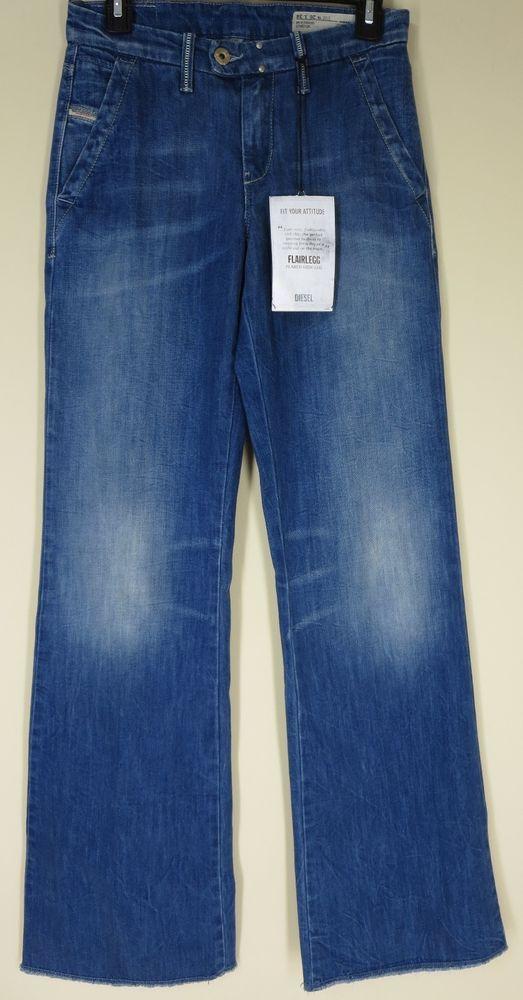024a27f7 NWT DIESEL Flairlegg Flared Wide leg Women's jean Size 29 wash 0889D  MSRP$278.00 #DIESEL #WideLeg
