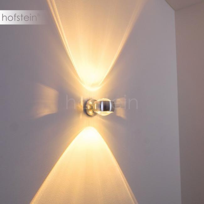 6W LED Wandleuchte Wandlampe Rund Wandstrahler wohnzimmer aus Glas Flurlampe
