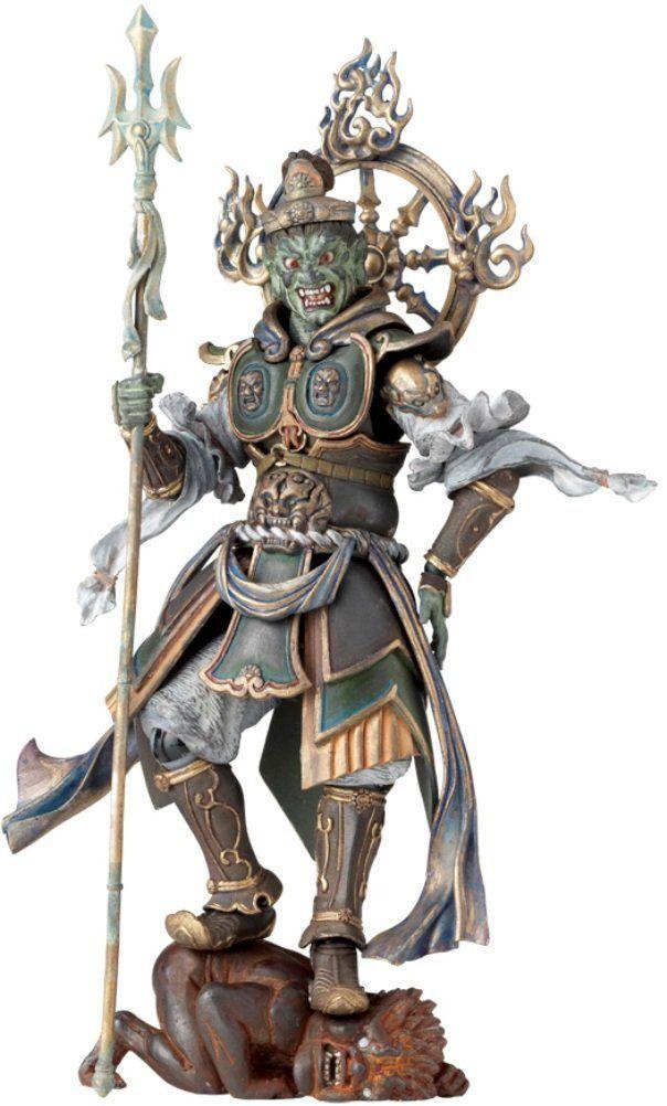Action Figure Kaiyodo Takeya Revoltech 003EX  Ashura Wooden Ver