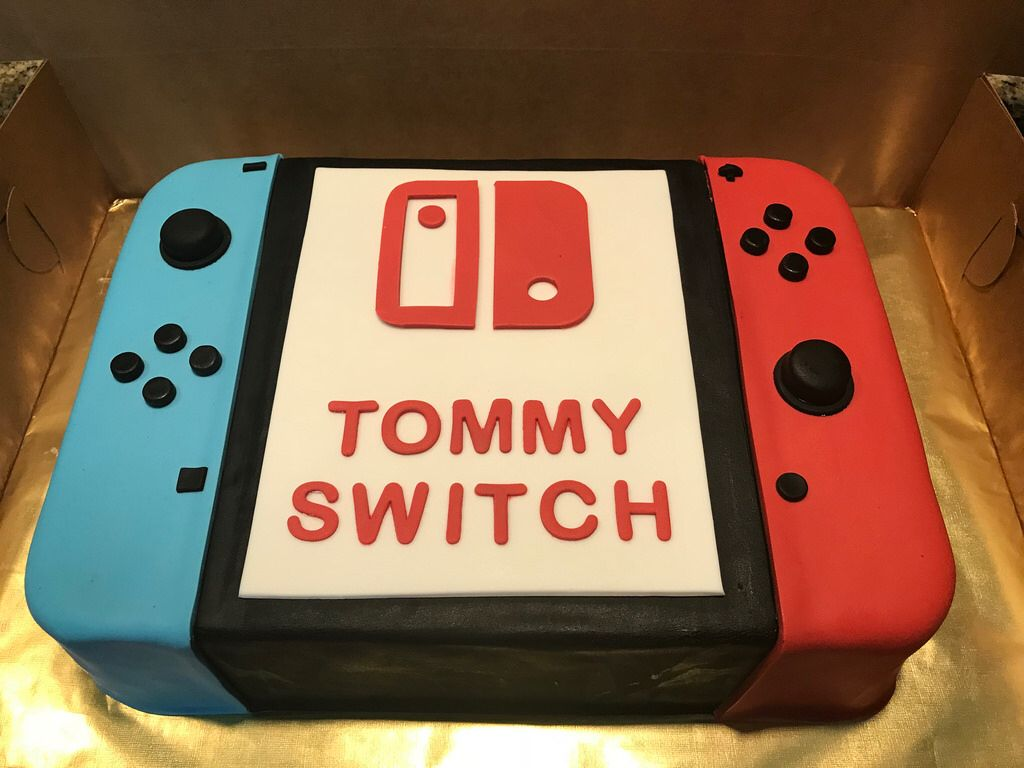 Fantastic Nintendo Switch Cake With Images Nintendo Cake Birthday Cake Funny Birthday Cards Online Alyptdamsfinfo