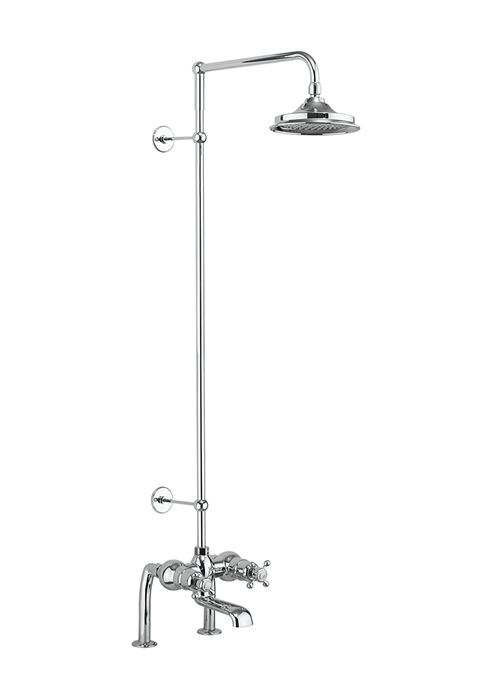 Bath Shower Mixer Taps Thermostatic tay thermostatic bath shower mixer deck mounted with rigid riser