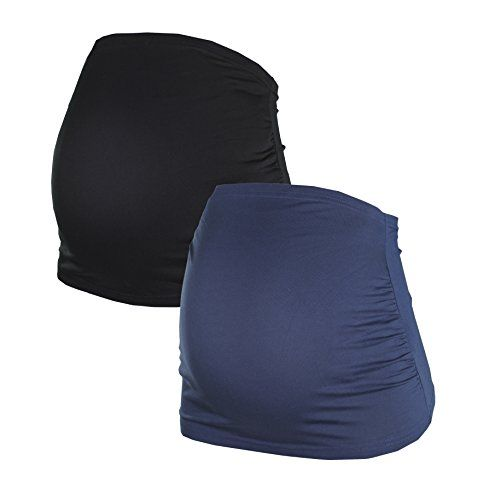 Bauchband f�r Schwangere im Doppelpack von HERZMUTTER, 6000 (Schwarz/Blau, M)