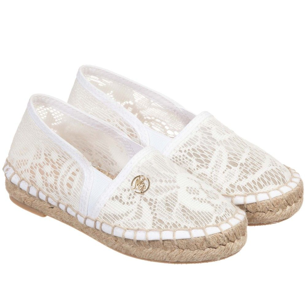 Lace espadrilles, Toddler girl shoes