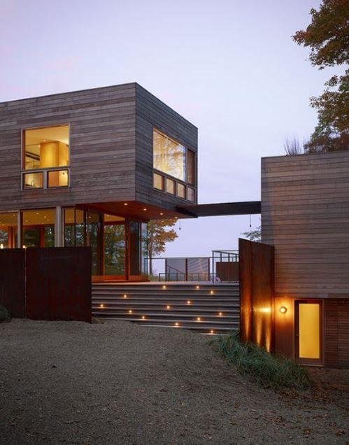 Escaleras modernas para casa espacios pinterest for Escaleras para exteriores de casas