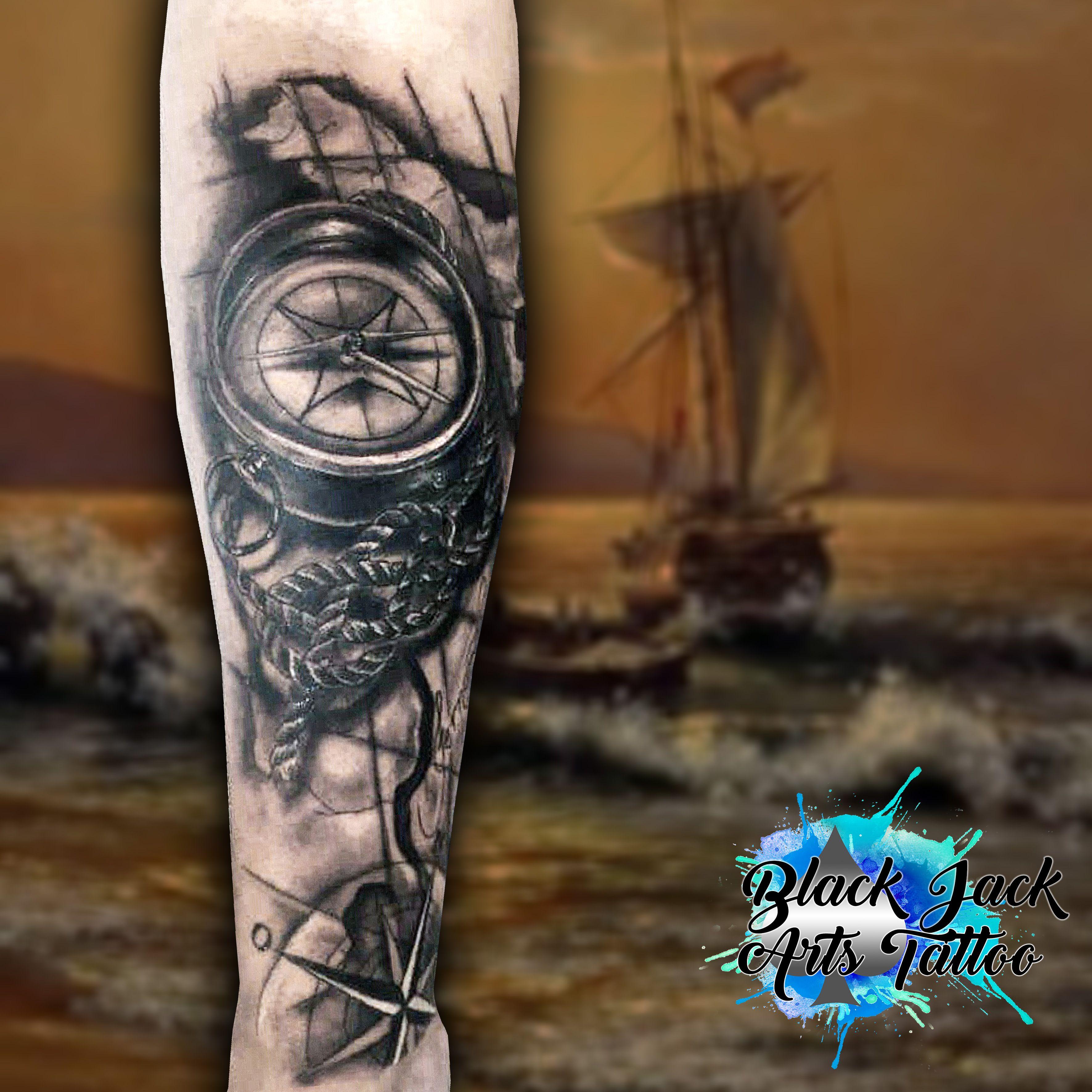 Tatuagem de bussola com rosa dos ventos tatuagens for Tatoo bussola