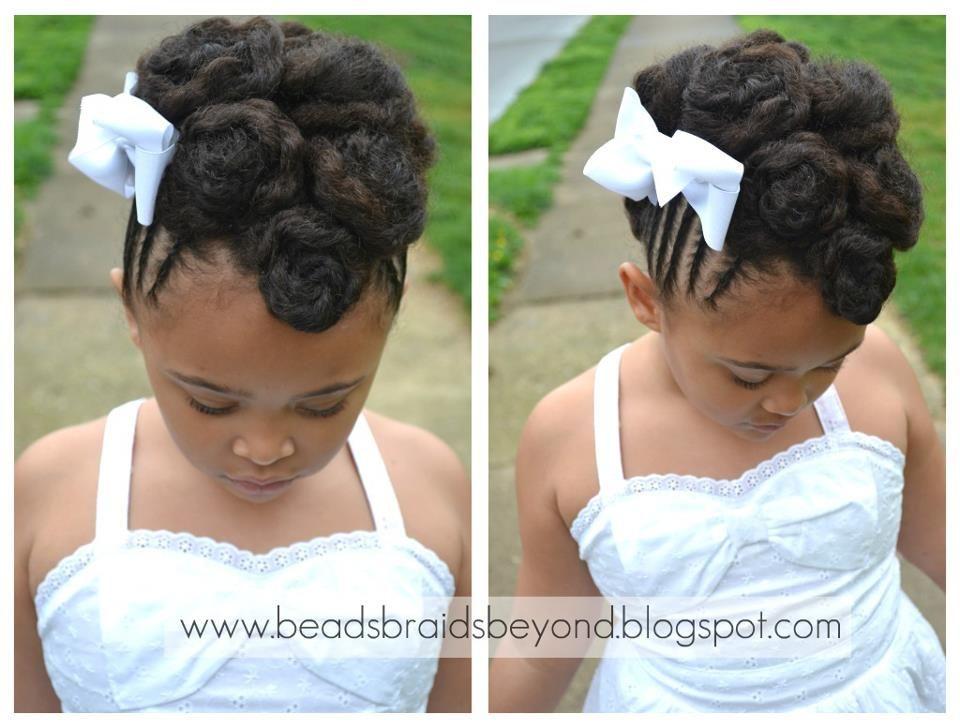 Cornrow Cinnabun Updo Natural Hair Updo Flower Girl