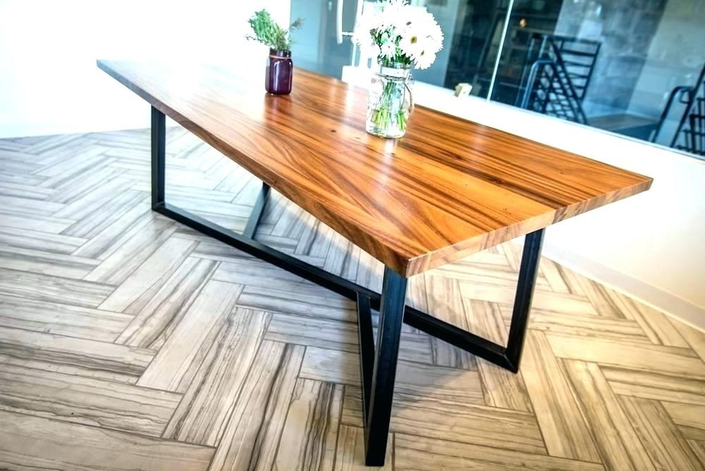 Brainy Wood Table With Metal Legs Luxury Wood Table With Metal