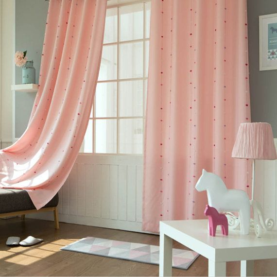Adorable Little Pom Pom Weaved Eyelet Grommet Kids Curtains 110\