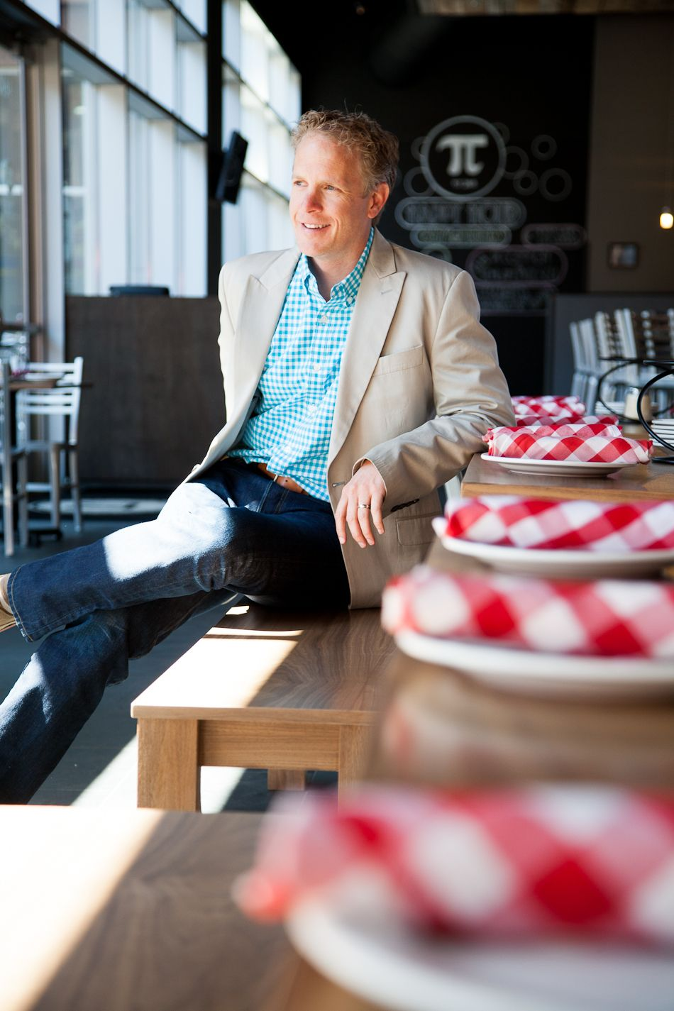 Chris Sommers, co-owner of Pi chain of pizza restaurants in St. Louis. Photograph by Jonathan Gayman for Feast magazine.