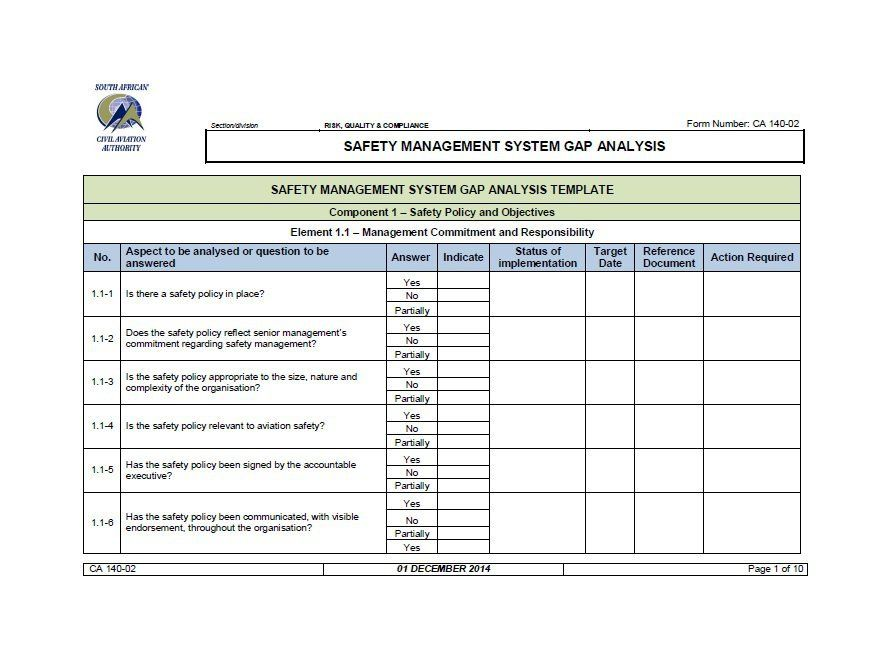 Gap Analysis Report Template Free (7) TEMPLATES EXAMPLE