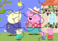 JuegosdePeppacom  Juego Rompecabezas Pap de Peppa Pig Puzzles