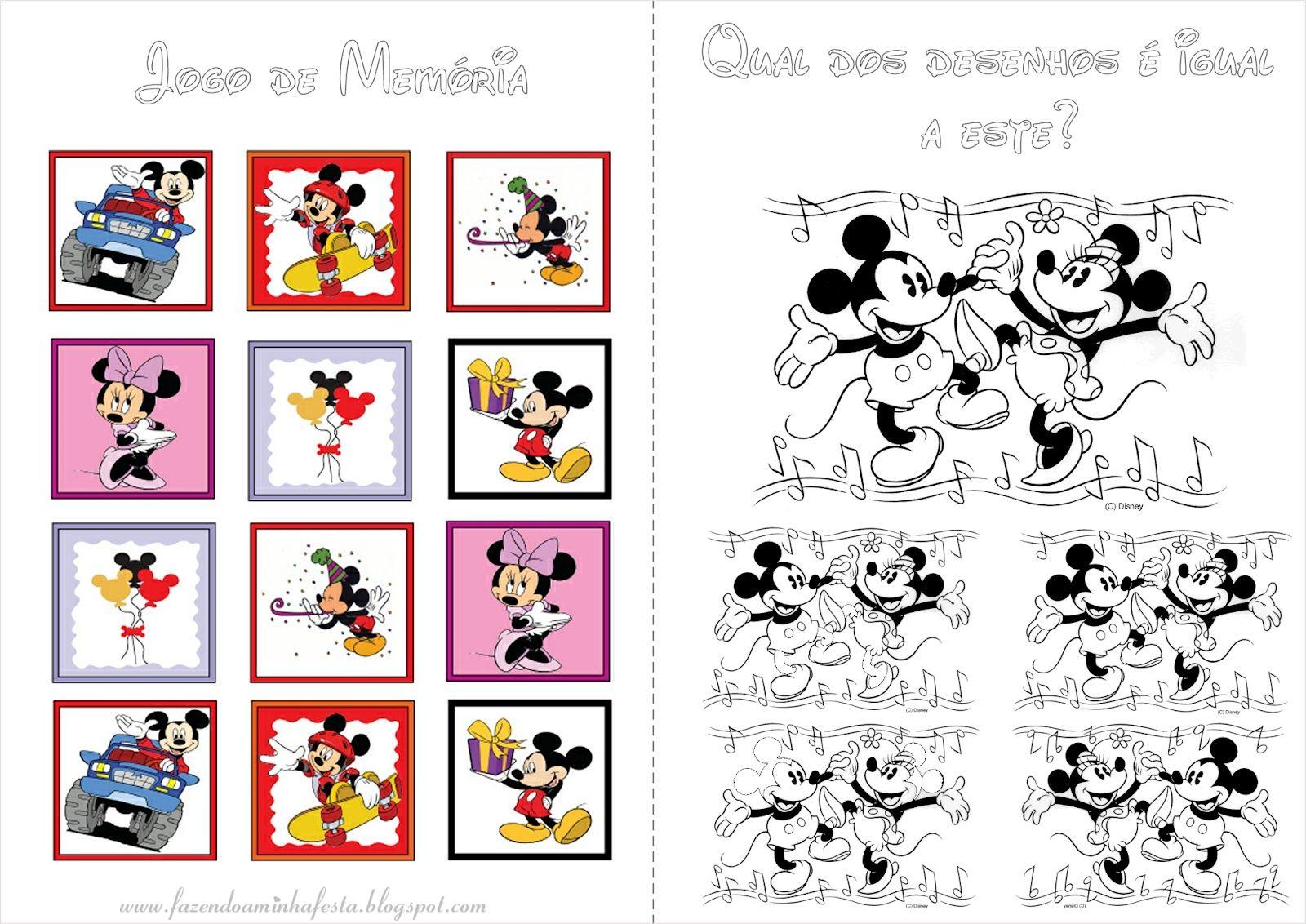 Mickey E Minnie Livrinho De Atividades Com Imagens Mickey