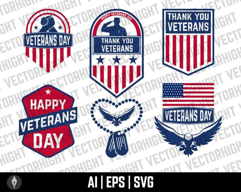 Veterans Day Veterans Day Clipart Veterans Day Bundle Veterans Day Emblems Bundle Digital Download File In 2021 Veterans Day Veteran Clip Art