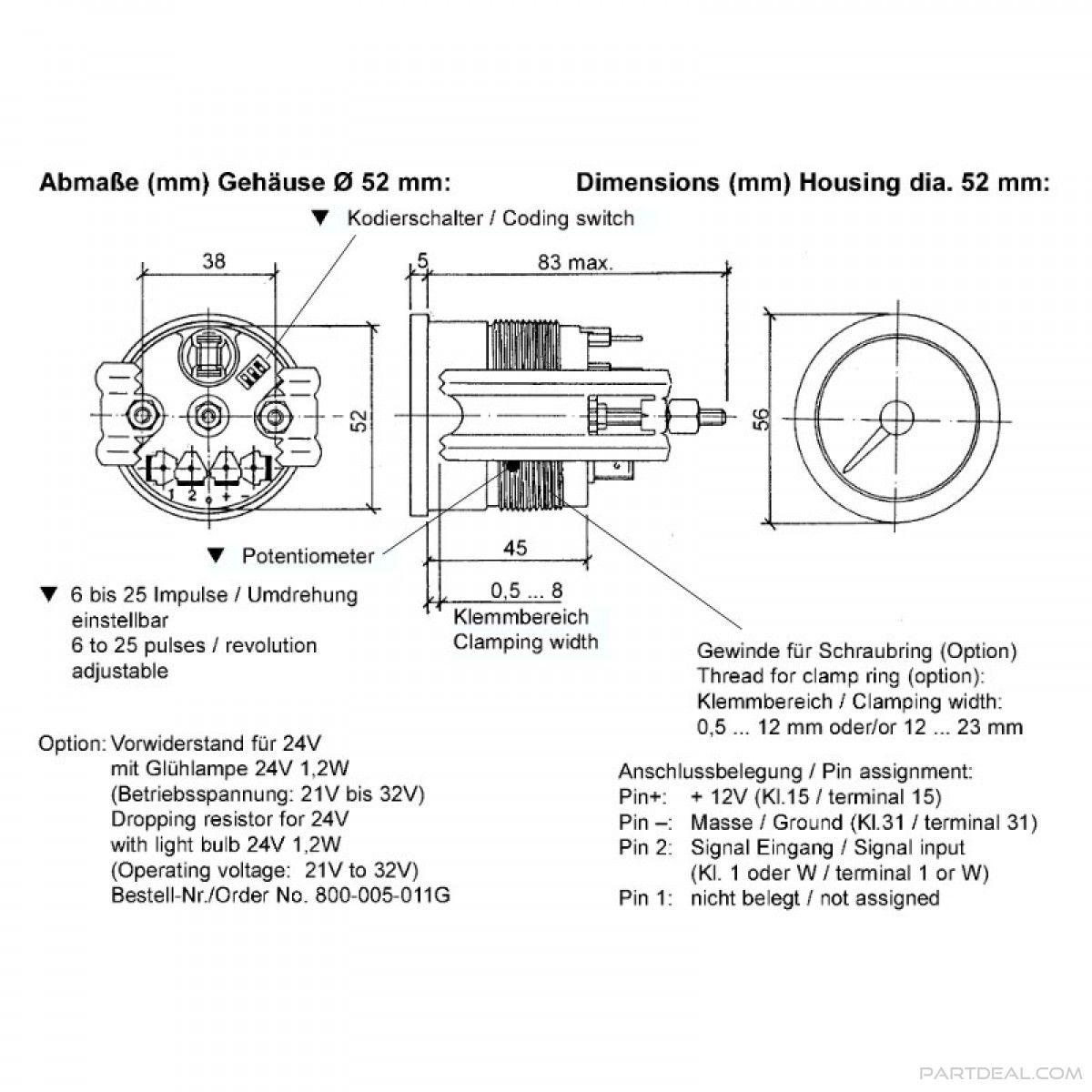 image result for vdo marine diesel tachometer wiring diagram [ 1200 x 1200 Pixel ]