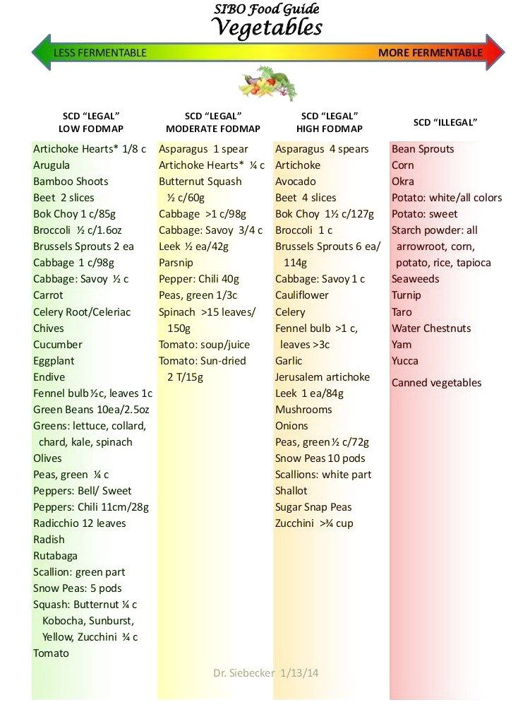 sibo sprcific diet food guide