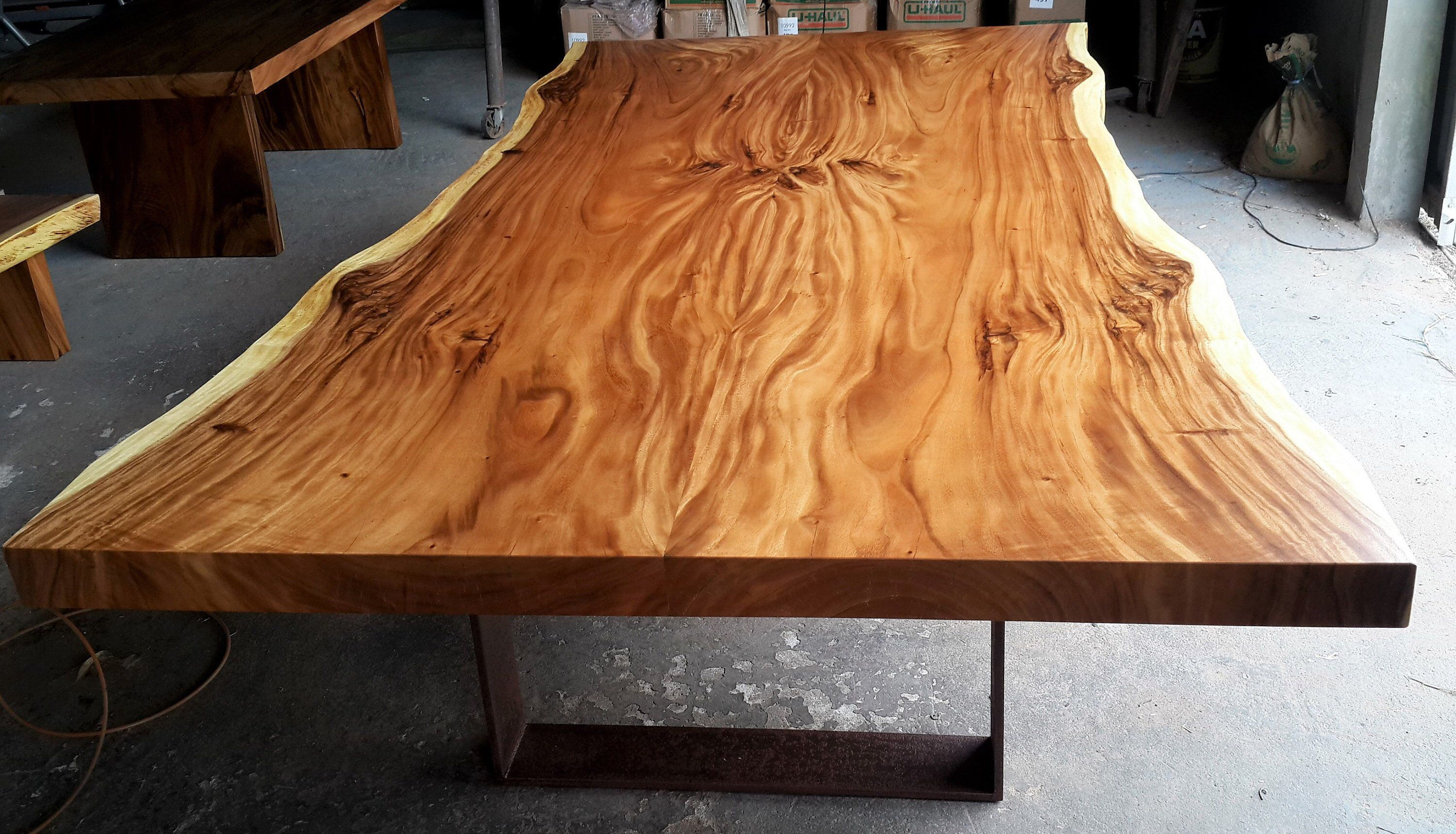 Live Edge Conference Table Live Edge Dining Table Live Edge Etsy