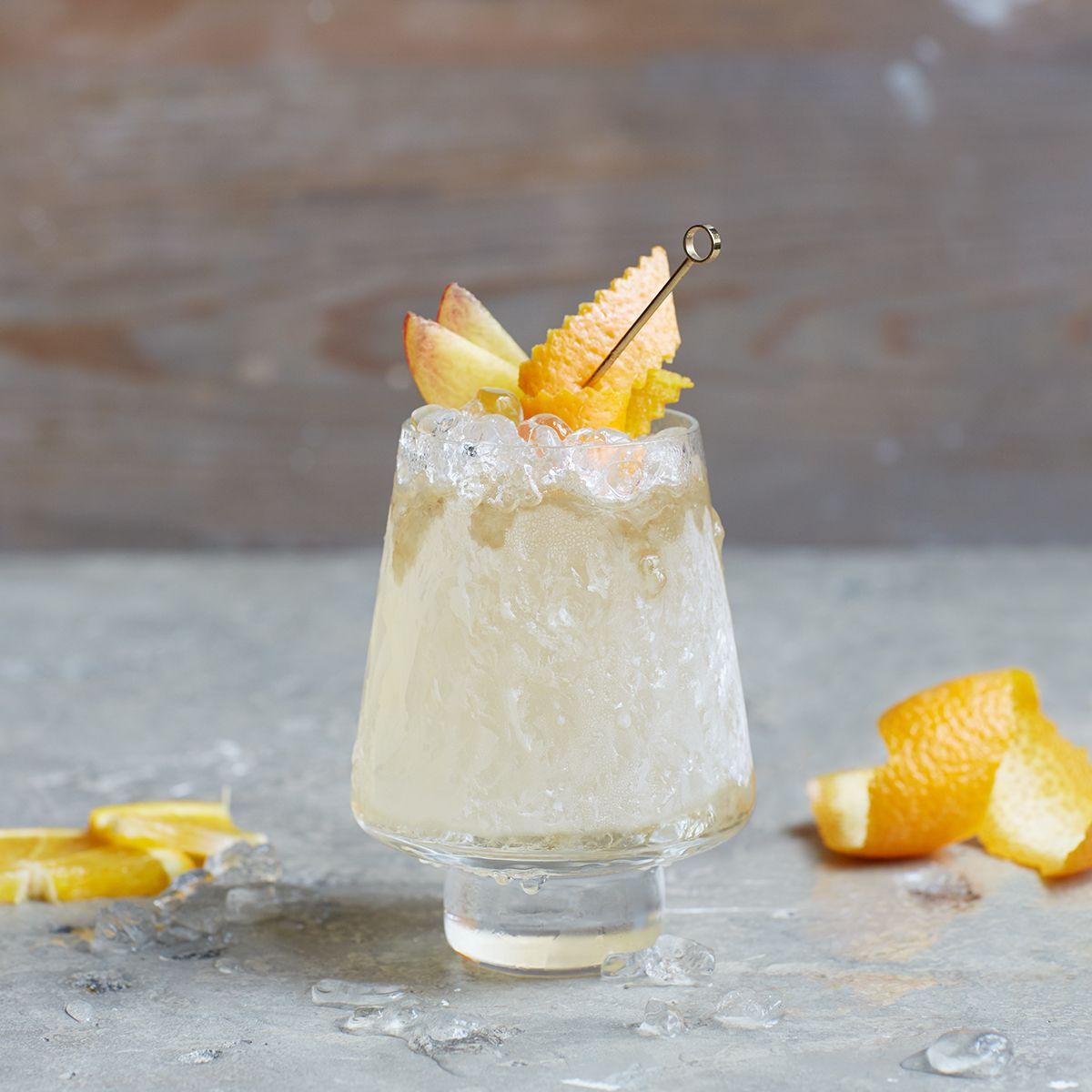 The Sherry Cobbler, a combination of sherry, sugar, oranges, berries and ice, was the US's favourite drink in the 19th century. It also apparently occasioned the invention of the straw, originally an actual piece of straw thrust deep into the ice. This modern variation was finessed by Mr Bobby Heugel of Anvil in Houston, Texas.
