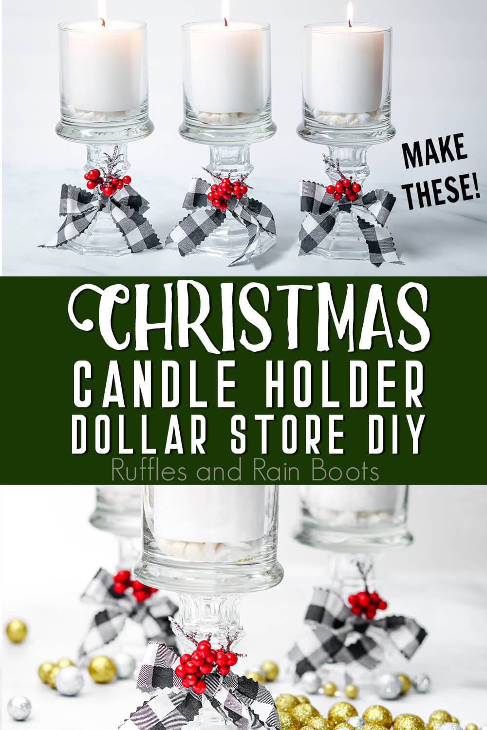 Easy DIY Dollar Store Candle Holder Upcycle Craft ...