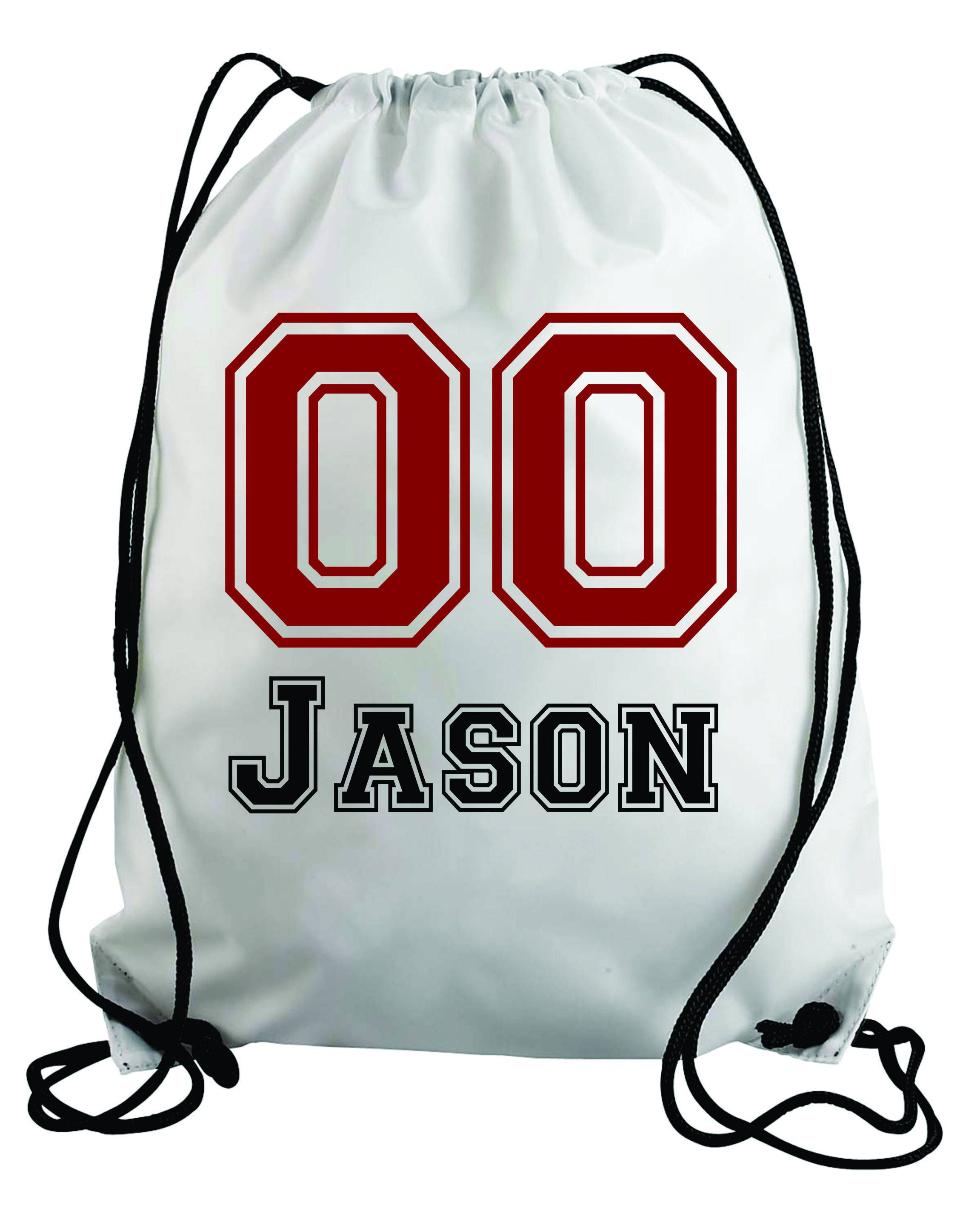 Personalized baseball design kids drawstring bags gym