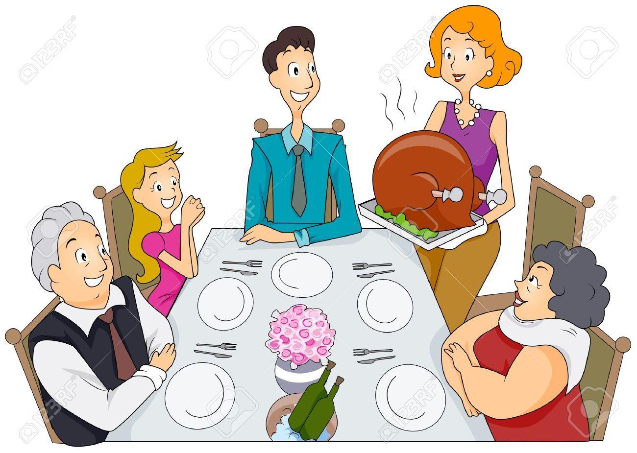 35+ Family thanksgiving dinner clipart information