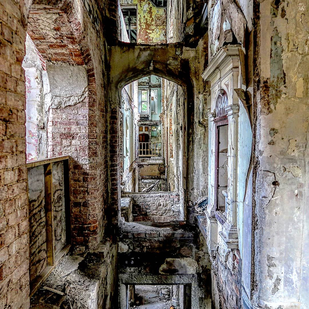 Exploring Inside Denbigh Asylum Wales Not Sure What Happened To The Floor Here This Place Probably Doesn T Have Much Longer Left Castles Interior