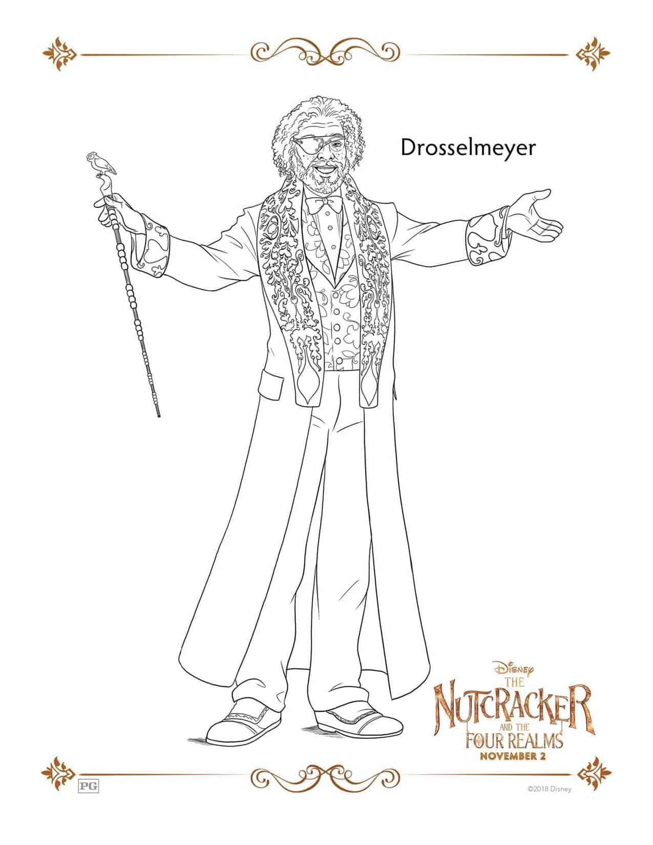 Nutcracker Coloring Page Disney's THE NUTCRACKER AND THE