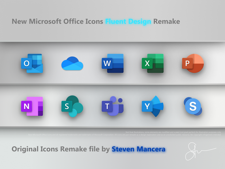 New Microsoft Office Icons Remake Office icon, Microsoft
