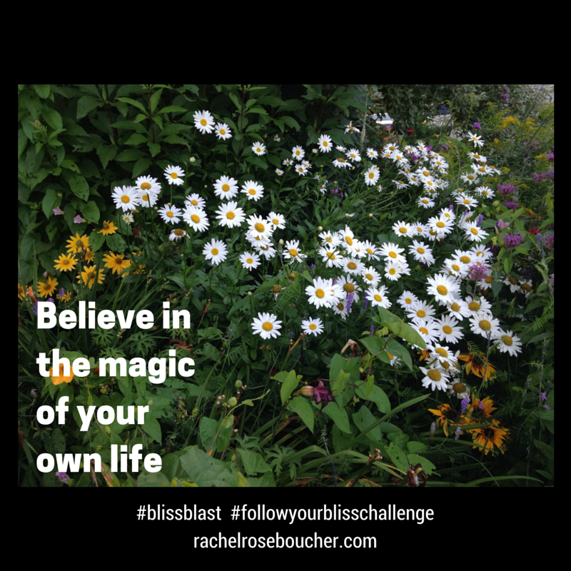 Believe in the magic of your own life.  FOLLOW YOUR BLISS Challenge {FREE}  http://www.rachelroseboucher.com/bliss/  #blissblast  #followyourblisschallenge  #lawofattraction #followyourbliss