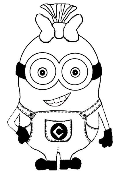 Girl Minion Coloring Pages Birthday Parties Coloring Pages