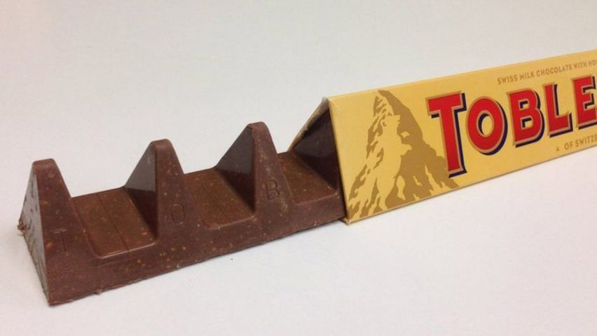 A savings-driven redesign of the iconic, triangular Toblerone chocolate bar has not gone down well with the British public.