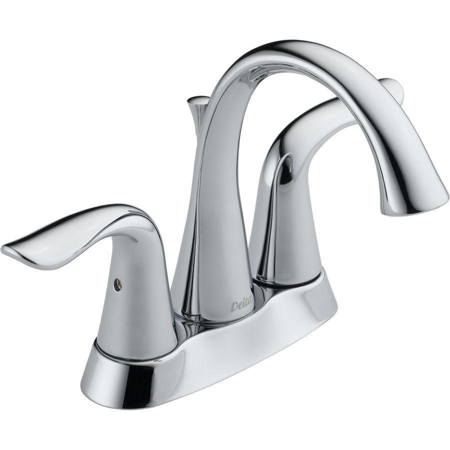 Delta Lahara Chrome 2 Handle 4 In Centerset WaterSense Bathroom Faucet ( Drain Included