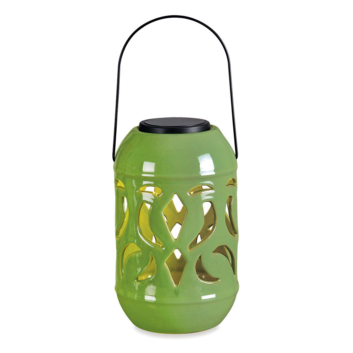 Lydia Solar Lantern In Green Outdoor Patio Decor