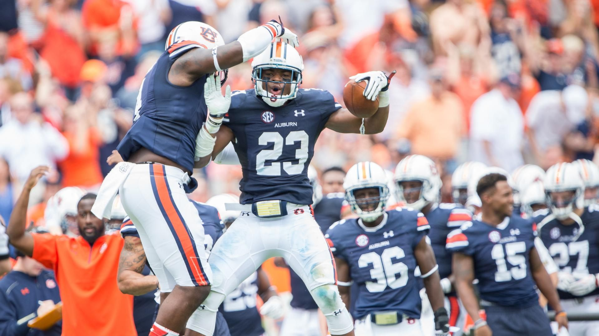 Auburn Survives Scare From Jacksonville State Espn Video Jacksonville State Auburn Football Auburn