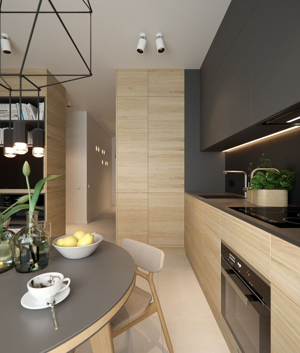 Awesome 40 Cozy Small Apartment Kitchen Design Ideas. More ...