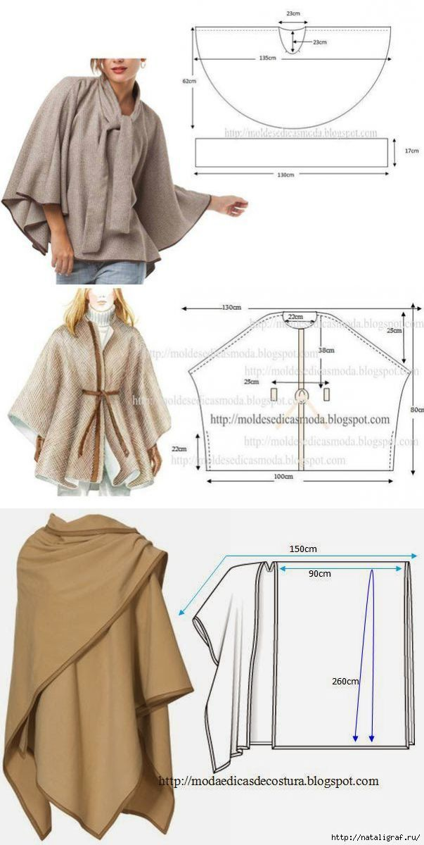шитьё | Costura, Ponchos y Patrones