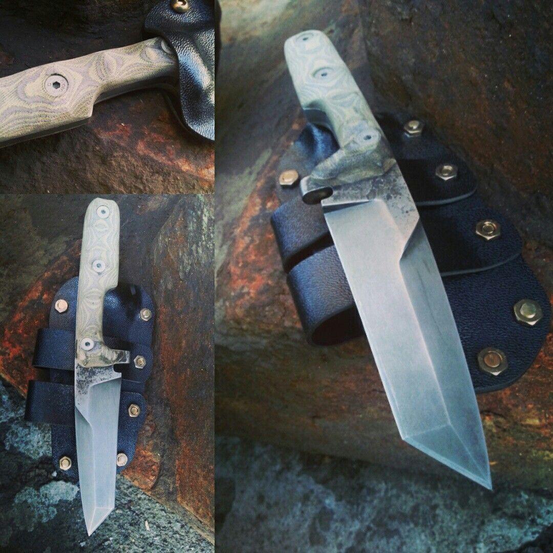 Hulk D2 Analog Steel Micarta Handle Abs Plastic Sheath Custom Customknife Knife Knifecommunity Handmade Handforge Cool Knives Knife Micarta Handles