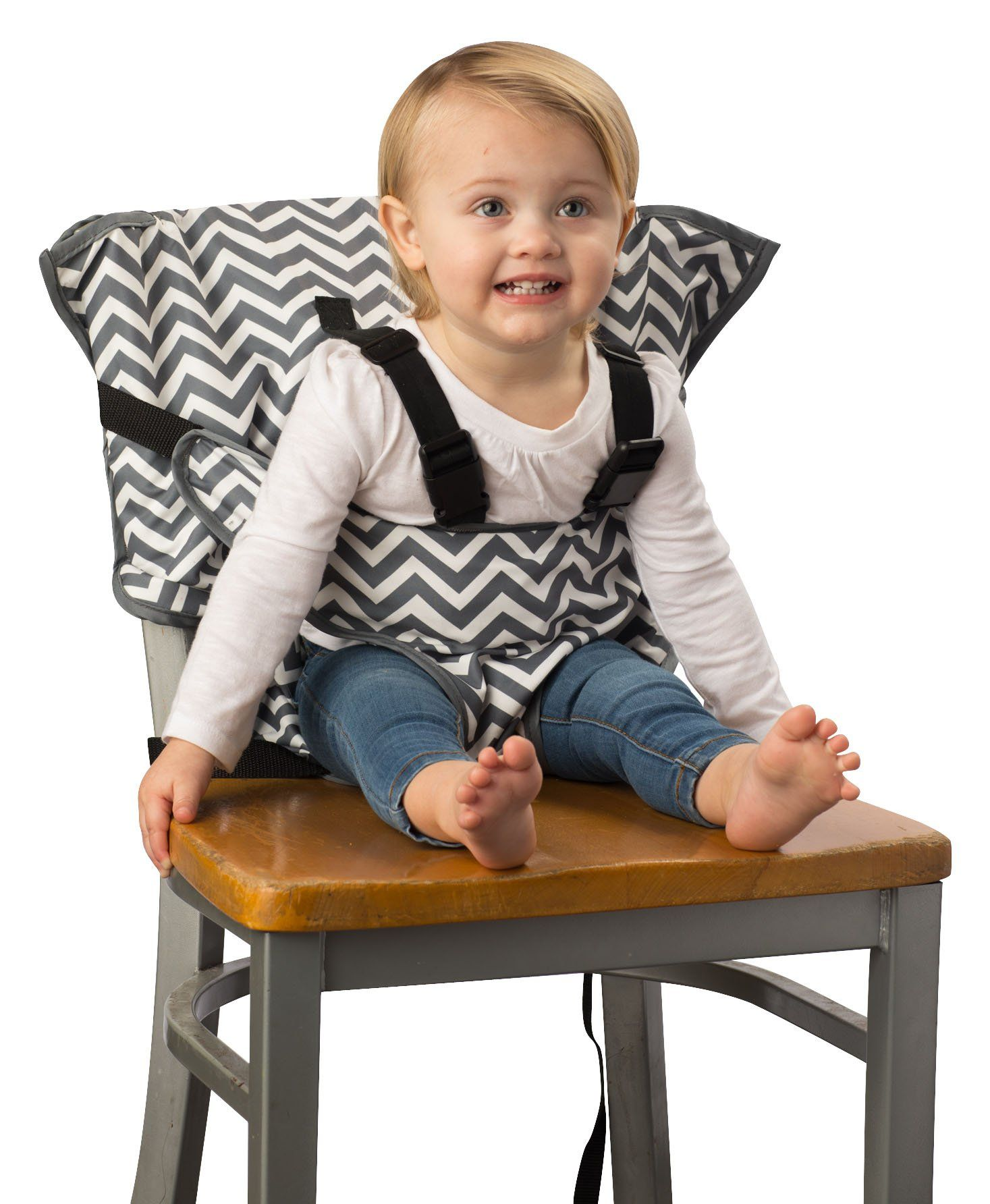 cd1f1a0cf8915 Cozy Cover Easy Seat – Portable Travel High Chair and Safety Seat for  Infants and Toddlers (Chevron). Simple and safe option for allowing your  child to sit ...