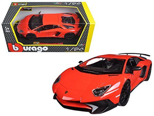 Lamborghini Aventador Lp750 4 Red 1 24 Model Car By Bburago See This Great Product This Is An Affiliate Link Car Model Diecast Model Cars Diecast Models