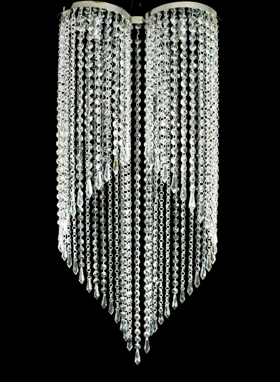 lustre de cristal chique lustres e luminarias pinterest lustres de cristal lustres e chique. Black Bedroom Furniture Sets. Home Design Ideas