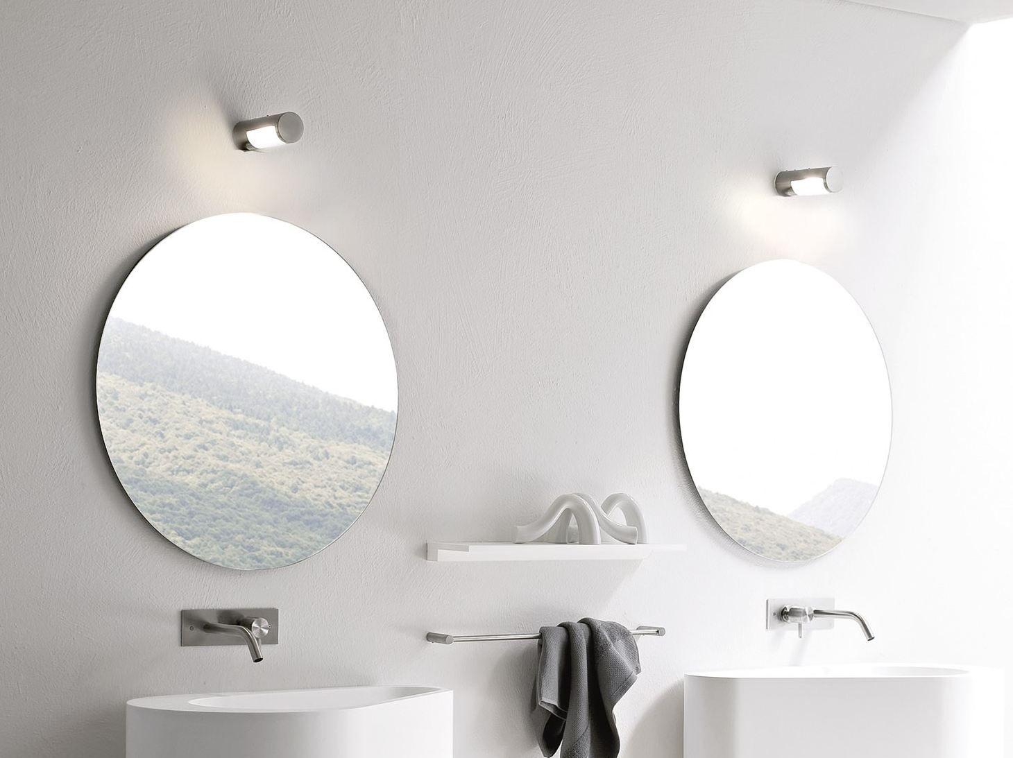 Specchio bagno rotondo collezione hole by rexa design - Specchio rotondo bagno ...