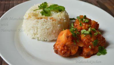 Gobi Manchurian with Hainanese Rice