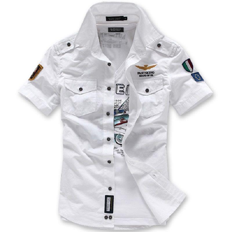 62455b1bb4f Click to Buy    New 2017 summer fashion brand military style shirts custom